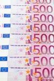 euro för 500 bakgrund Royaltyfri Fotografi