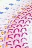 euro för 500 bakgrund Arkivfoto