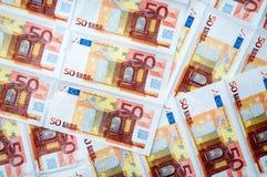 euro för 50 bakgrund Royaltyfria Bilder