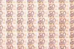 euro för 50 bakgrund Arkivfoto