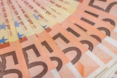 euro för 50 bills Arkivfoton