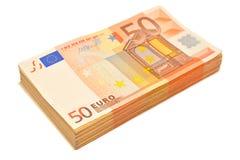 euro för 50 bills Arkivbilder