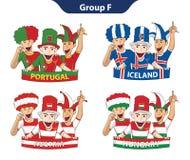 Euro 2016 för grupp F vektor illustrationer