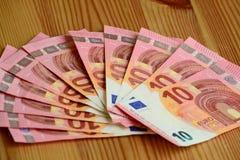 Euro för pappers- pengar Royaltyfri Fotografi