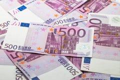 euro för 500 sedlar Royaltyfria Bilder