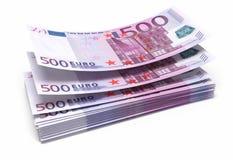 euro för 500 sedlar arkivbild