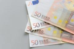 euro för 50 sedlar Arkivfoto