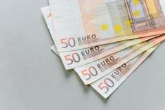 euro för 50 sedlar Arkivbilder