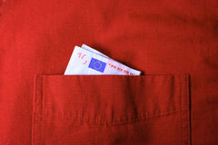 Euro facture Images libres de droits