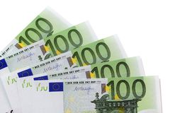 Euro 100 factures Image stock