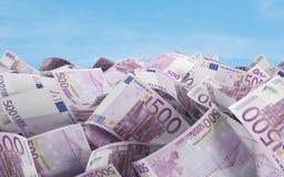 500 euro factures Images libres de droits