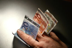 Euro factures Images libres de droits