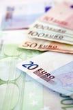 Euro factures Images libres de droits