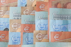 Euro factures, argent Photos libres de droits
