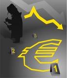Euro faillissement vector illustratie
