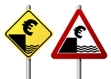 Euro fall sign Stock Photo