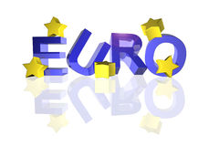Euro with fallen stars Stock Photography