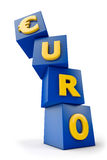 Euro falling Royalty Free Stock Images