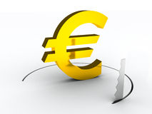 Euro falling down finance risk concept Stock Images
