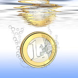 Euro falls Royalty Free Stock Photography