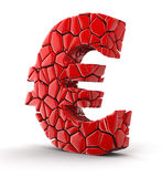 Euro falls apart (clipping path included) Stock Photography