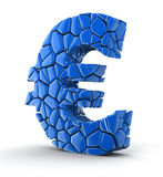 Euro falls apart (clipping path included) Stock Photo
