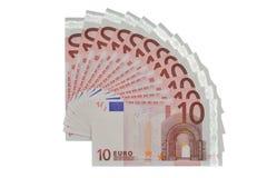 Euro fan fotografia royalty free