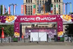 Euro fanzone 2012 Stockfotografie