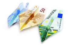 Euro fatture Fotografie Stock Libere da Diritti
