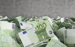 100 euro fatture Immagini Stock