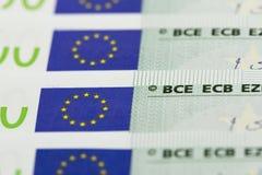 100 euro fatture Fotografia Stock Libera da Diritti