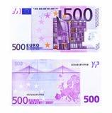 euro fem hundra Fotografering för Bildbyråer