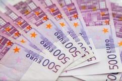 euro fem hundra anmärkningar Royaltyfri Foto