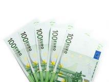 euro fem isolerade hundra Arkivfoton