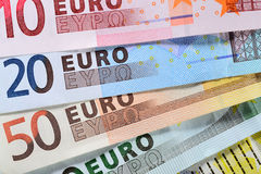 Euro argent Images stock