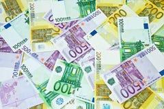 Euro financial background Stock Photos