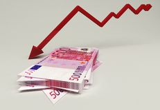 Euro financial crisis Stock Photo