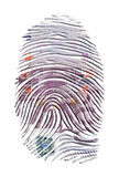 Euro Finger Print. Euro Currency on Finger Print Royalty Free Stock Photo