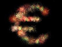 Euro fireworks Royalty Free Stock Image