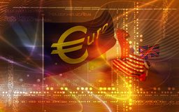 Euro flag Stock Photos