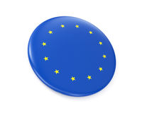 EURO flag (badge) Stock Images