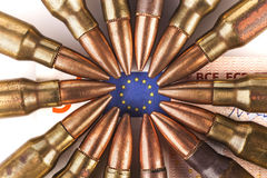 Euro Flag and Bullets Royalty Free Stock Photos