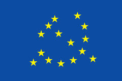Euro flag with communism symbol Royalty Free Stock Photo