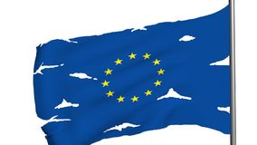 Euro flag 3d animation stock video