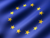 Euro flag Royalty Free Stock Images