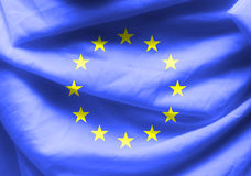 Euro flag fabric background Royalty Free Stock Photography