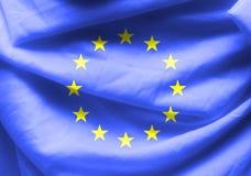 Euro flag fabric background Royalty Free Stock Photography