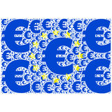 Euro flaga Obraz Royalty Free