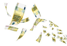 200 Euro Fllying Stock Photography