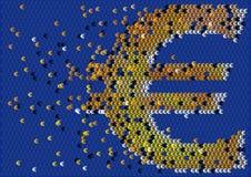 Euro- fluxo de caixa ilustração stock
